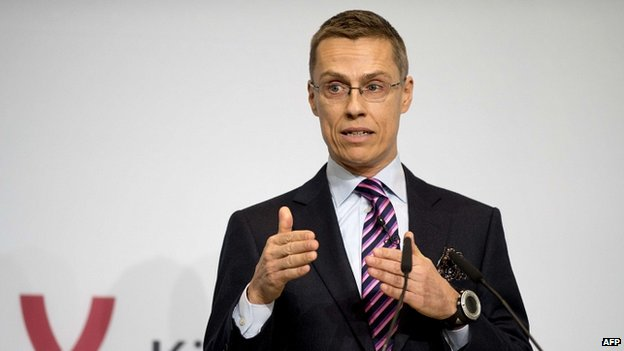 Former Finnish foreign minister Alexander Stubb addressing the Berlin Foreign Policy forum in Berlin on 23 October 2012