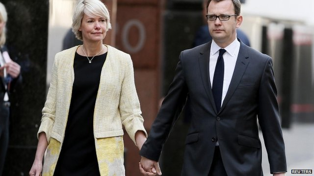 Andy Coulson and his wife, Eloise Patrick
