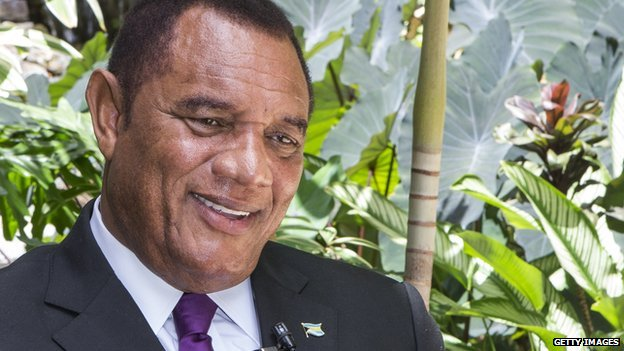 Bahamas prime minister Perry Christie