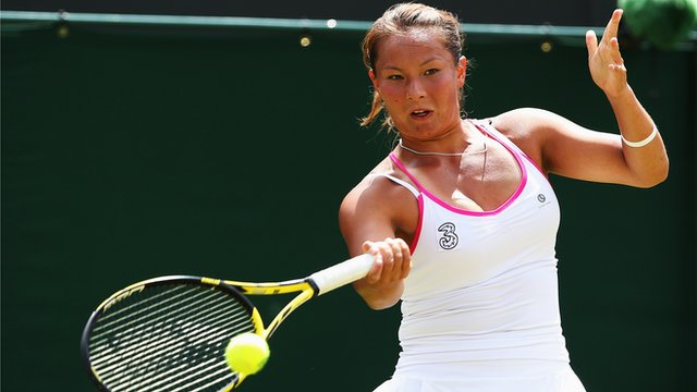British wildcard Tara Moore loses to Vera Zvonareva in a see-saw first round match match at Wimbledon