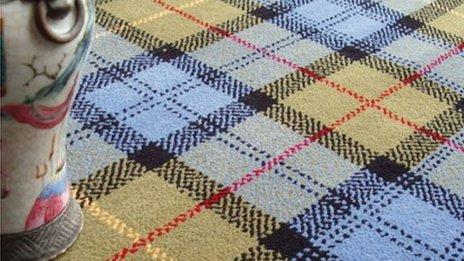 Farquharson tartan carpet