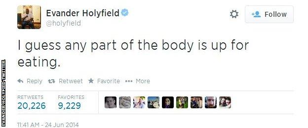 Evander Holyfield Twitter