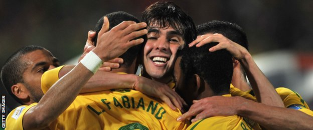 Brazil beat Chile in 2010