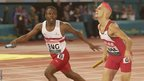 Manchester 2002: Matt Elias is beaten into second place by Daniel Caines in an unforgettable 4 × 400 metres relay final.