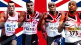 (From left to righ) Richard Kilty, Adam Gemili, James Dasaolu and Chijindu Ujah