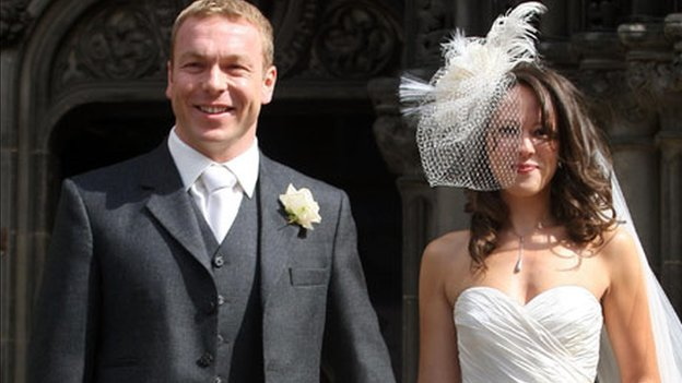 Chris Hoy and Sarra Kemp