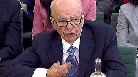 Rupert Murdoch before MPs