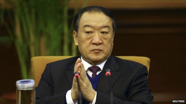 "Then Communist Party Secretary of Jiangxi province, Su Rong attends a group discussion during the National People""s Congress in Beijing March 6, 2012."