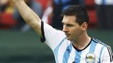 Lionel Messi after scoring against Iran in the 2014 World Cup