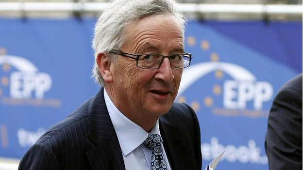Jean-Claude Juncker arrives at an European People's Party (EPP) meeting in Brussels - 27 May 2014