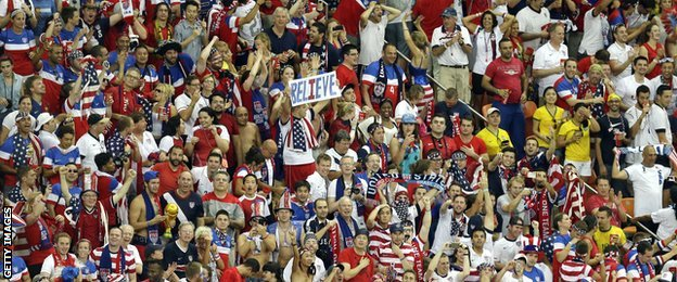 USA fans have made their presence felt watching their team in Brazil