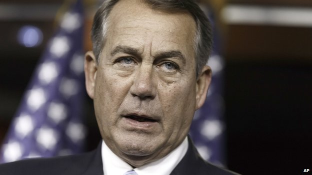 House Speaker John Boehner appeared in Washington on 25 June 2014