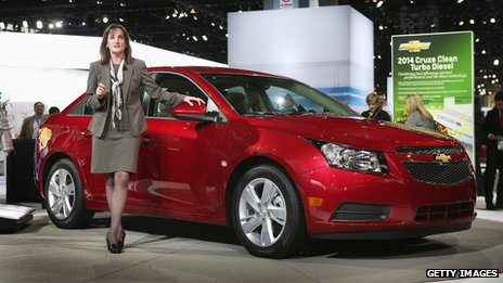 Chevrolet Cruze car on display