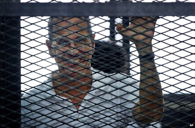 Peter Greste in court in Cairo, 23 June