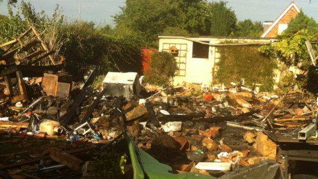 Turnberry Close gas cylinder explosion