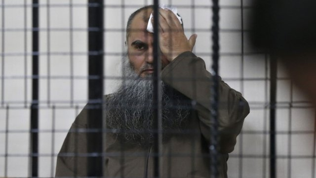 Abu Qatada in court in Amman