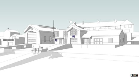 Artist's impression of new Swanage lifeboat station