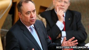 Alex Salmond at Holyrood