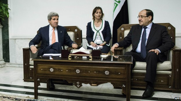 Kerry and Al-Maliki met in