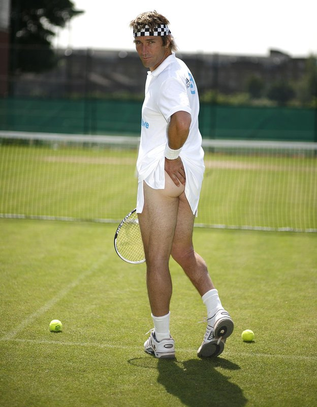 Pat Cash Tennis Girl poster, for BBC 5 Live