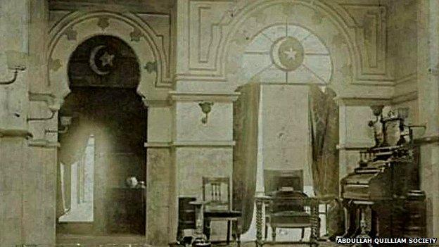 Inside Abdullah Quilliam's mosque