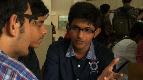 Chirag Dodiya with friends at University