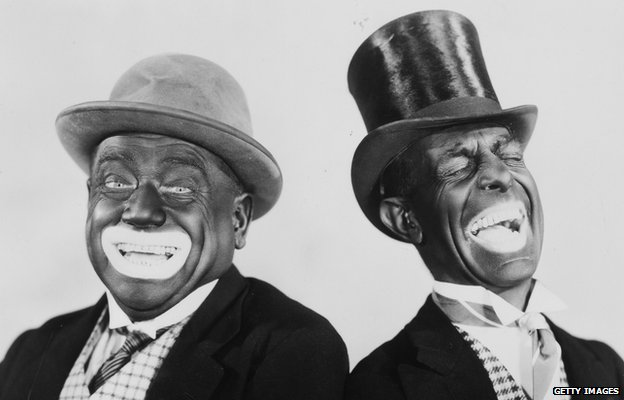 Minstrel show performers Alexander and Mose in 1931