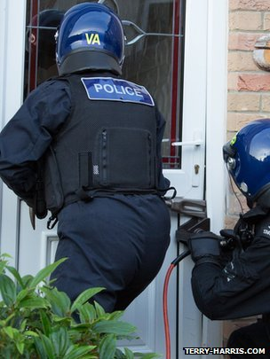 Police raids in Cambridgeshire