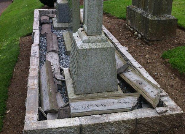 Grave damage