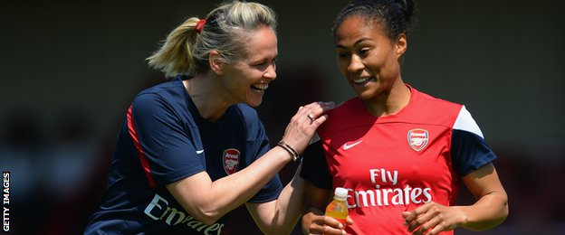Shelley Kerr and Rachel Yankey