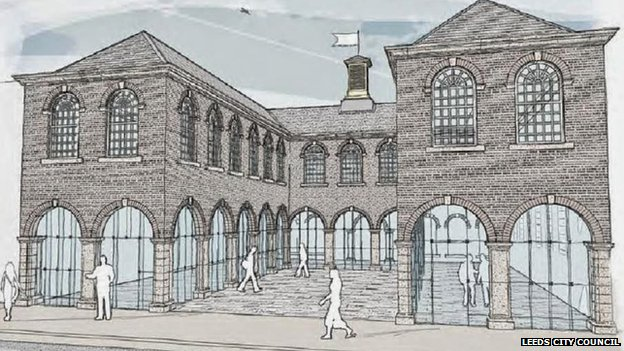 The First White Cloth Hall in Leeds - an impression