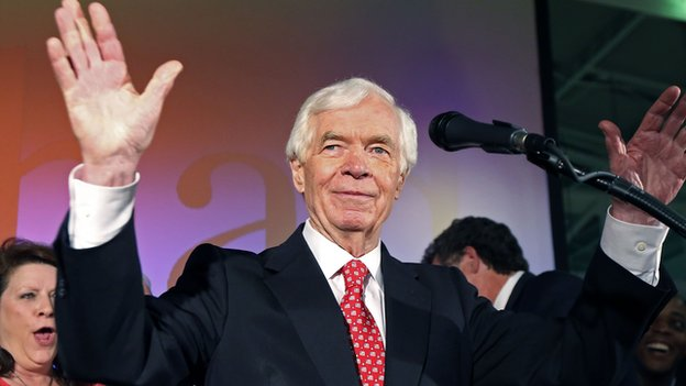 Senator Thad Cochran at his victory party on 24 June, 2014.