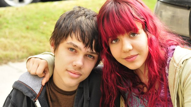 Ellar Coltrane and Lorelei Linklater in Boyhood