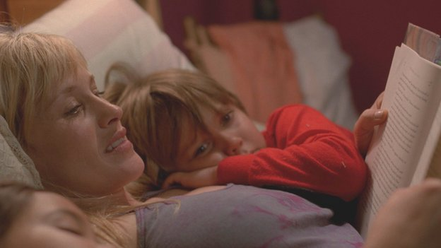 Patricia Arquette, Lorelei Linklater and Ellar Coltrane in Boyhood
