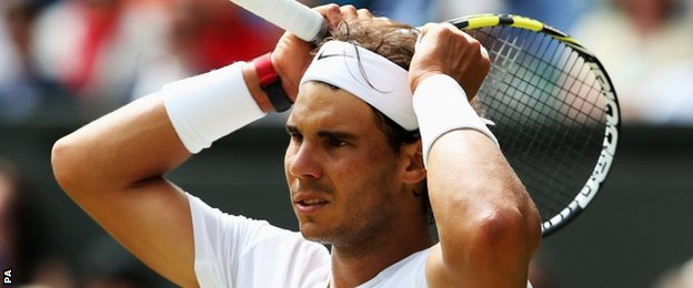 Rafael Nadal struggled in the first set