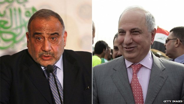(l-r) Adel Abdul Mahdi and Ahmed Chalabi