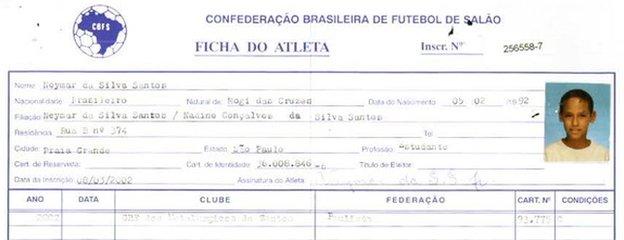 Neymar form