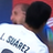 Luis Suarez appears to bite Giergio Chiellini