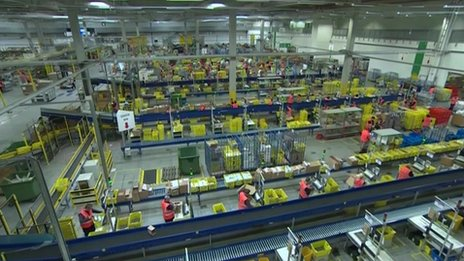 Amazon fulfilment centre in Cardiff