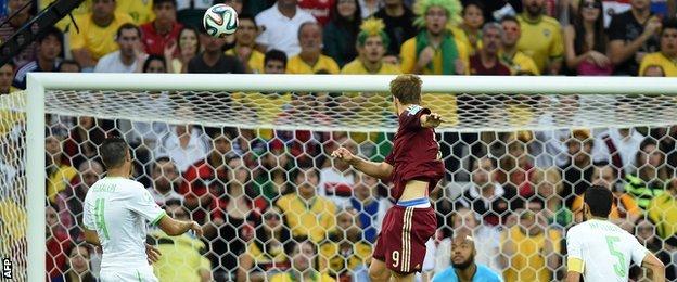 Aleksandr Kokorin's goal gave Russia an early lead against Algeria