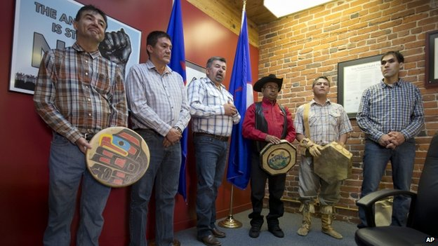 Members of the Tsilhqot'in First Nation appeared in Vancouver, British Columbia, on 26 June 2014