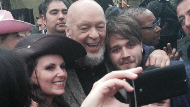 Michael Eavis, at Glastonbury 2014