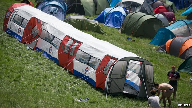 Tent at Glastonbury 2014