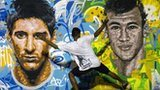 Lionel Messi and Neymar artwork