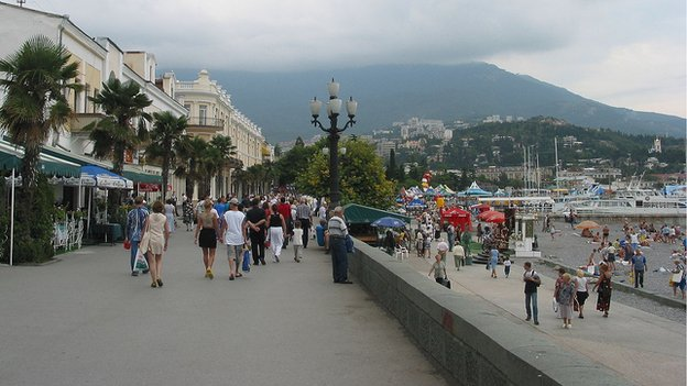 Yalta promenade, Crimea - taken from Wikipedia under wiki commons, user Podvalov