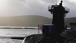 HMS Vanguard at Faslane