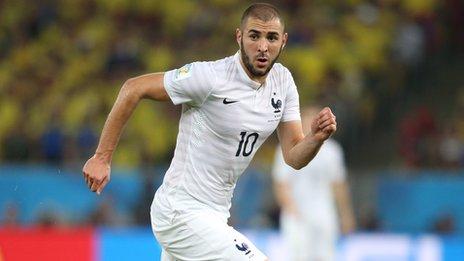 French national player Karim Benzema