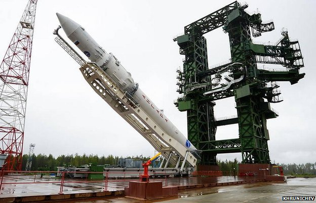 Angara launcher in Plesetsk