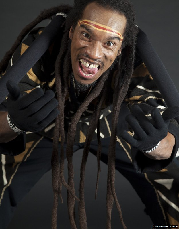 Benjamin Zephaniah as Anansi the spider