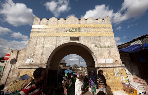 Historic gate in Harar